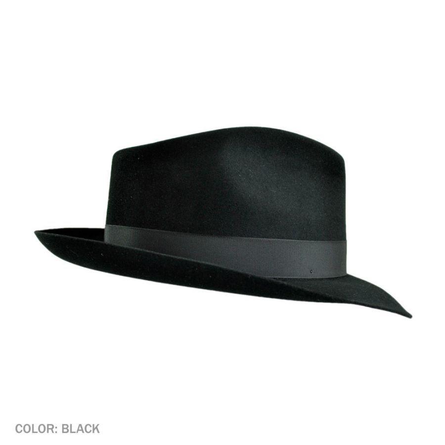 d2d1b06697b8b Stetson Downs Fur Felt Fedora Hat All Fedoras