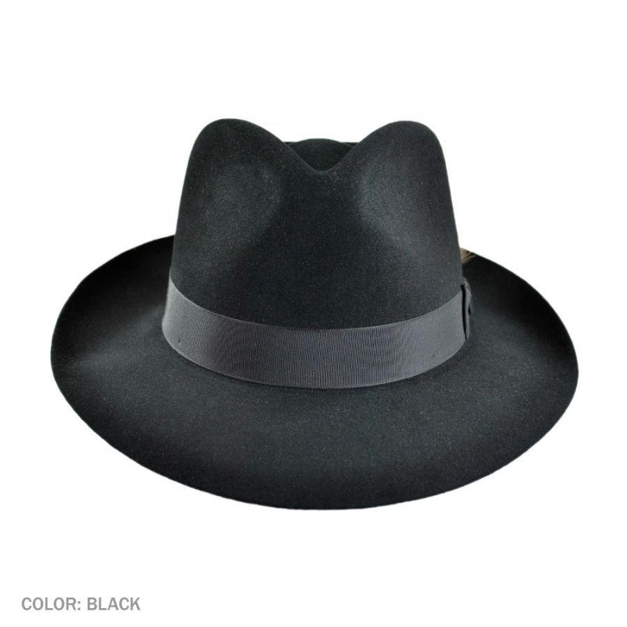 Stetson Downs Fur Felt Fedora Hat All Fedoras 0d114721eea