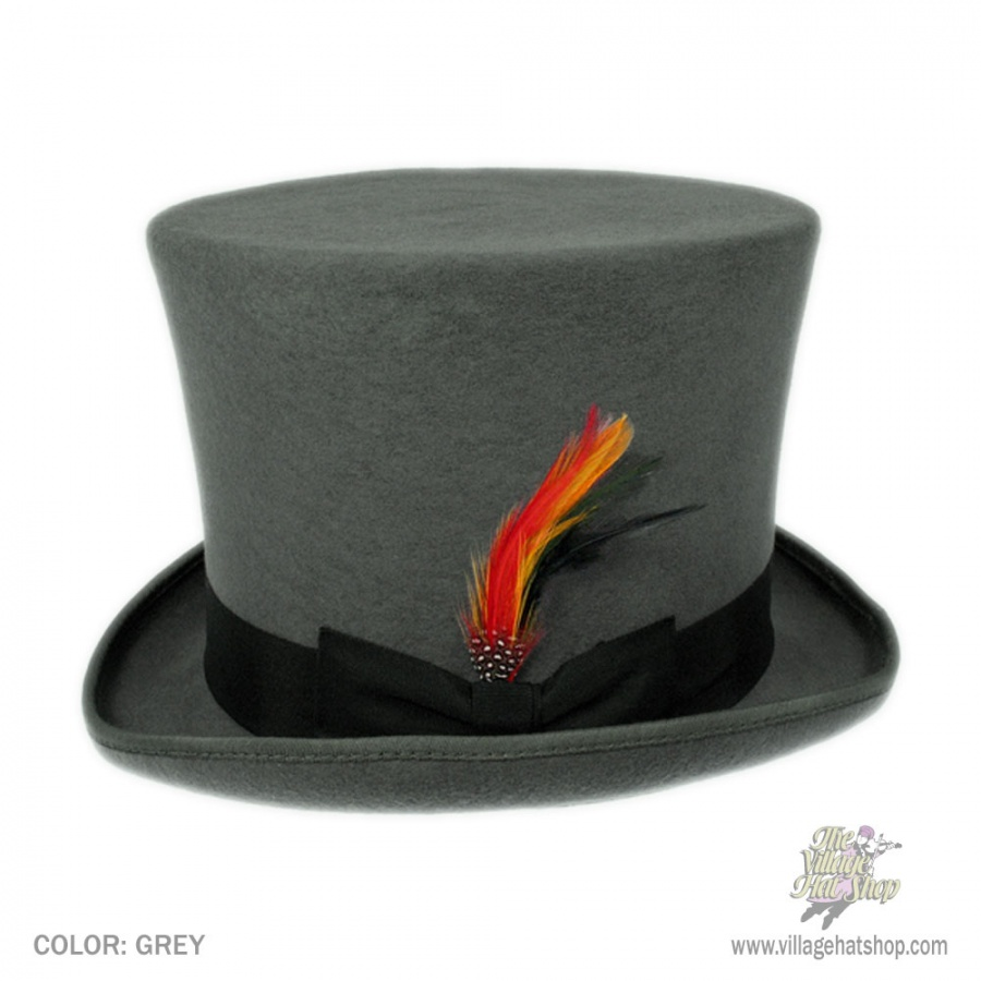 B2B Jaxon Victorian Top Hat (Gray) in Alternate View 42b04045b60