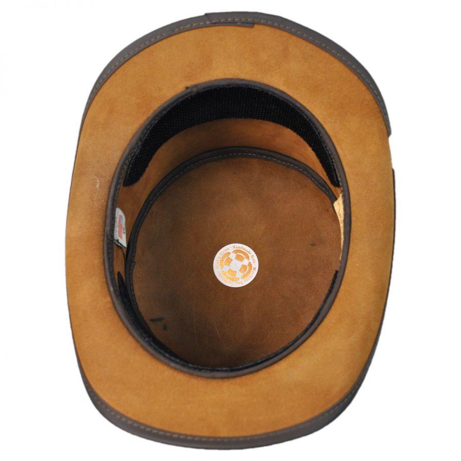 9ea711738b7 Head  N Home Coachman Brown Leather Top Hat Top Hats