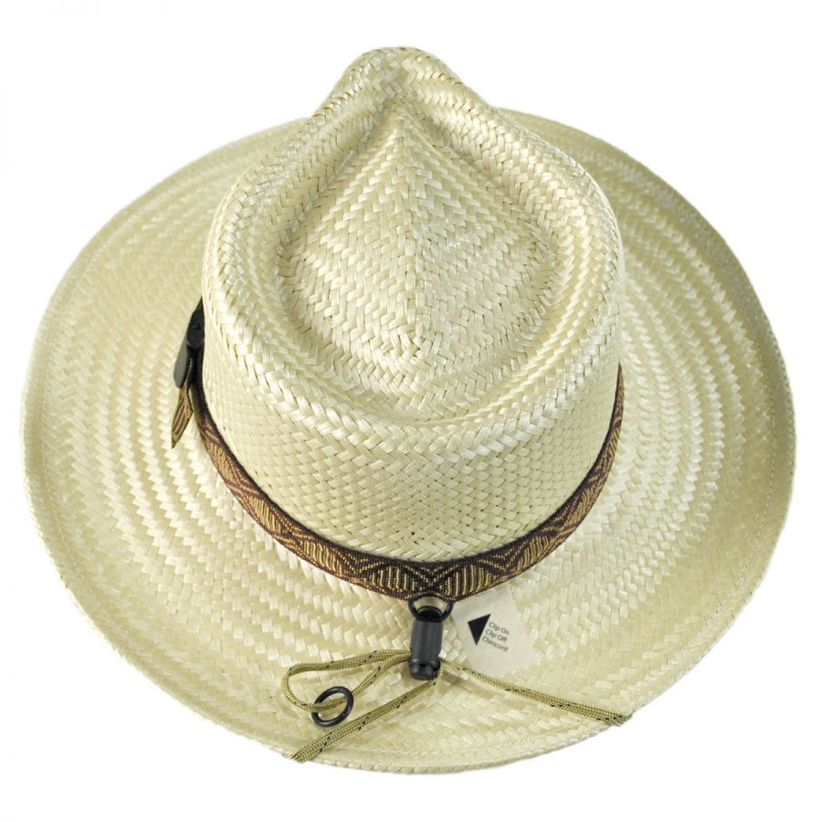 866509321a7 Riverz by San Francisco Hat Company Delta TechStraw Fedora Hat Straw ...