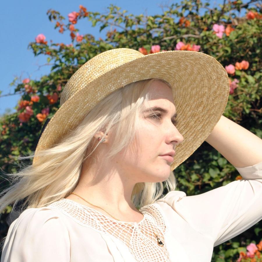 b7c8c6ca755 sur la tete Milan Straw Boater Sun Hat Dress Hats