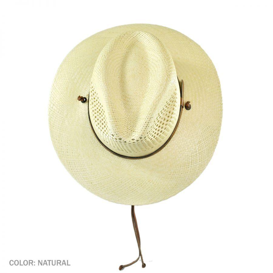 Stetson Airway Chincord Panama Straw Safari Hat Straw Hats 724703b5bb14
