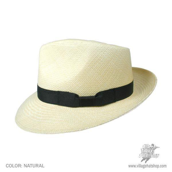 f8b8fba62741f Stetson Retro Panama Straw Fedora Hat Panama Hats