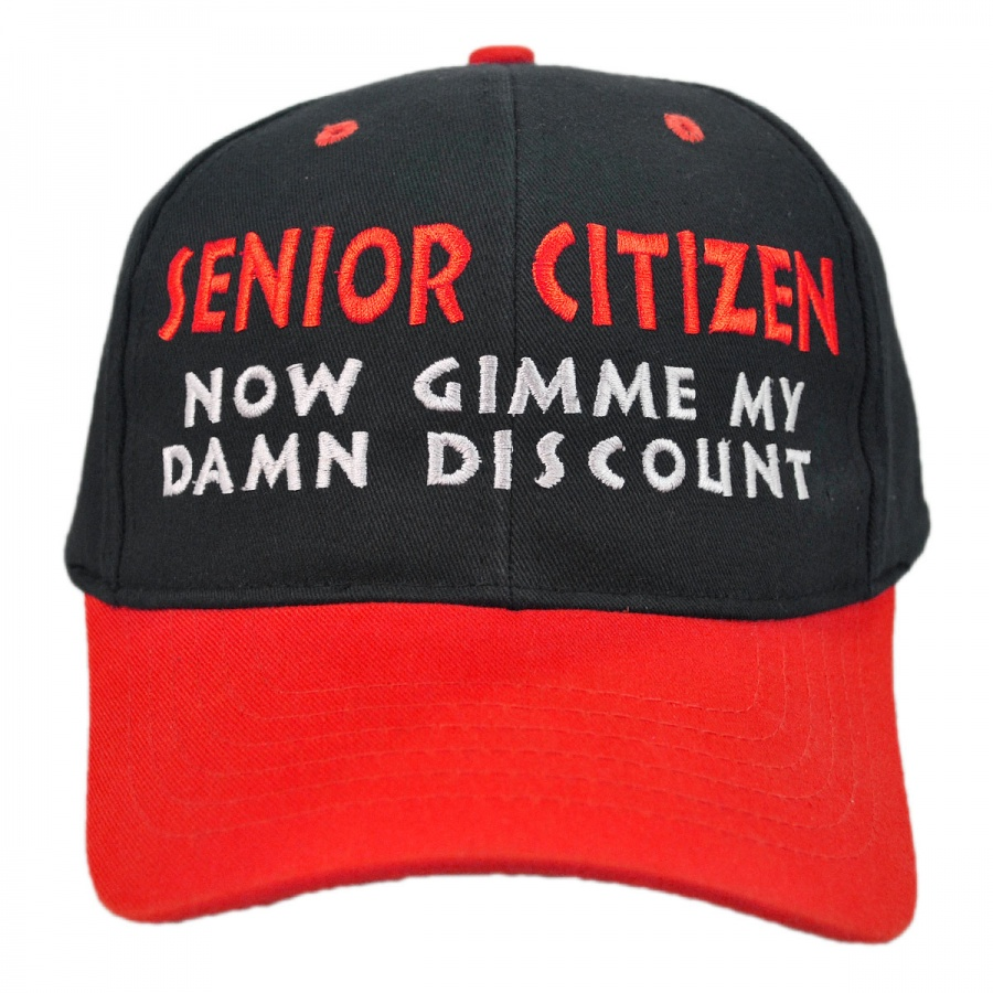 Senior Citizen Discount Snapback Baseball Cap in · Senior Citizen Discount  Snapback Baseball Cap in · Village Hat Shop cc95701ff7c0