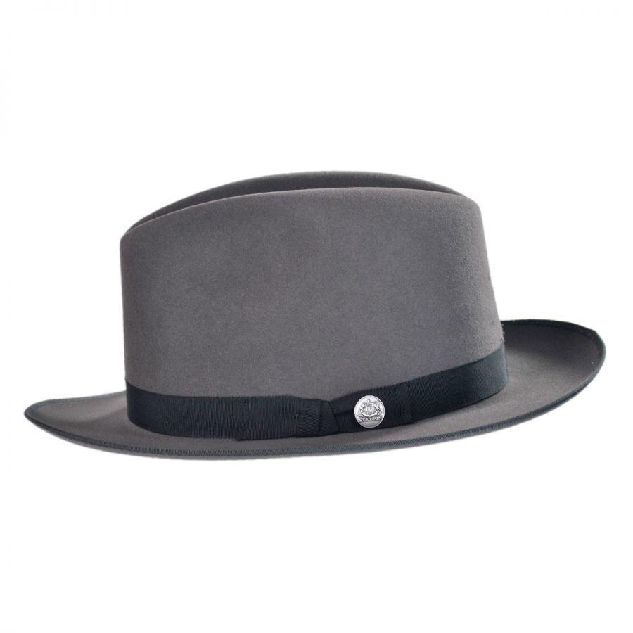 Stetson Runabout Packable Fur Felt Fedora Hat Crushable 67fd24f6d80