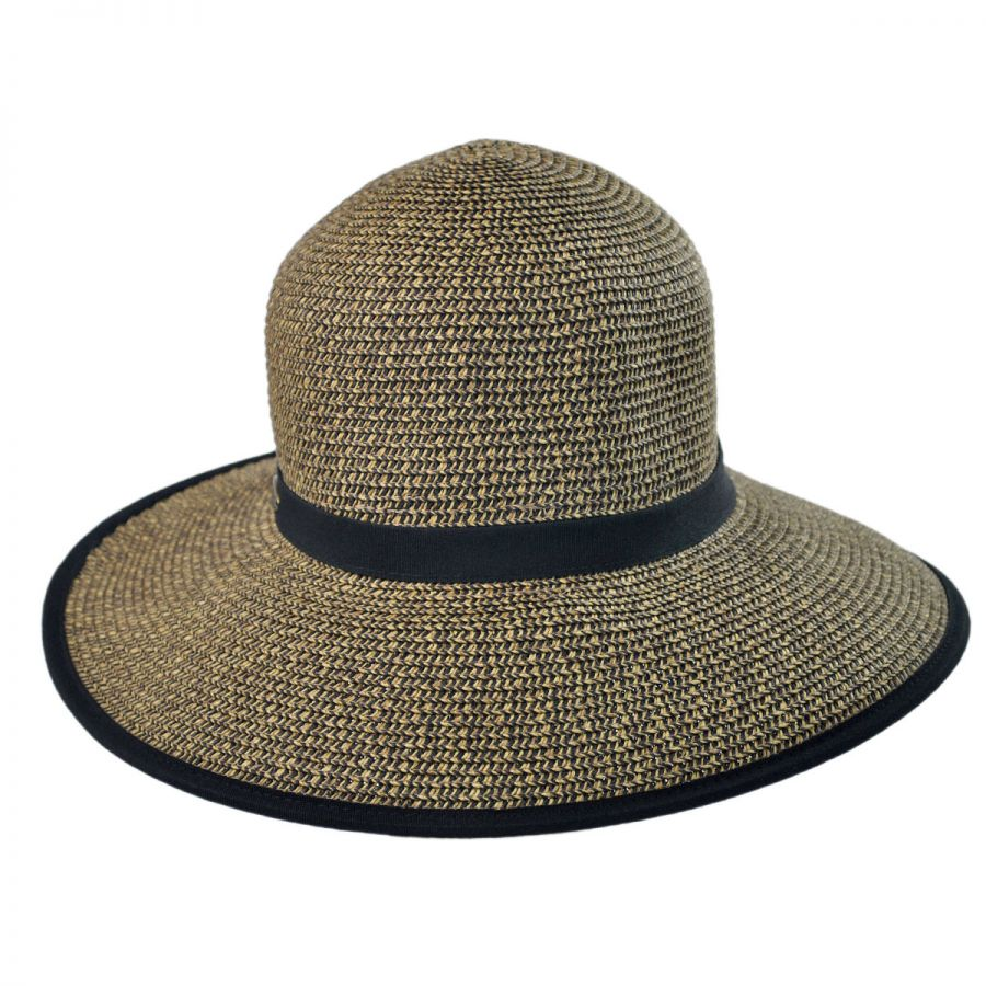Cappelli Straworld Toyo Straw Braid Facesaver Hat - Coffee Straw Hats 6c10d2a2f924