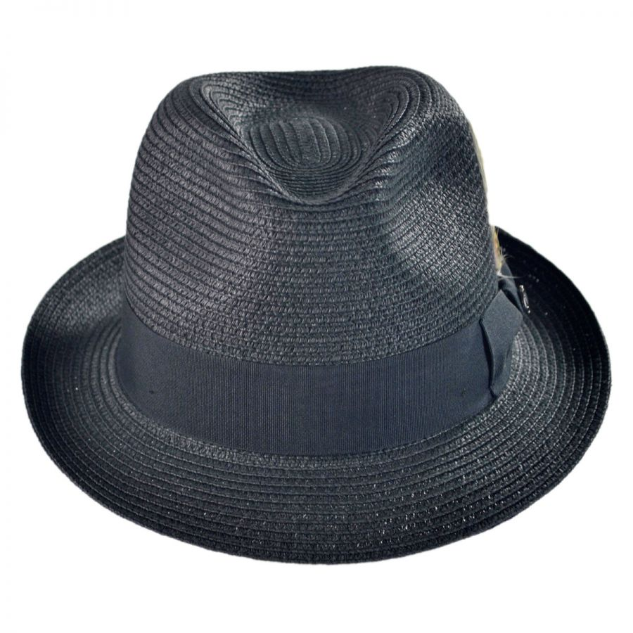 6682fa6ad4e91 Jaxon Hats Toyo Straw Braid Trilby Fedora Hat Straw Hats