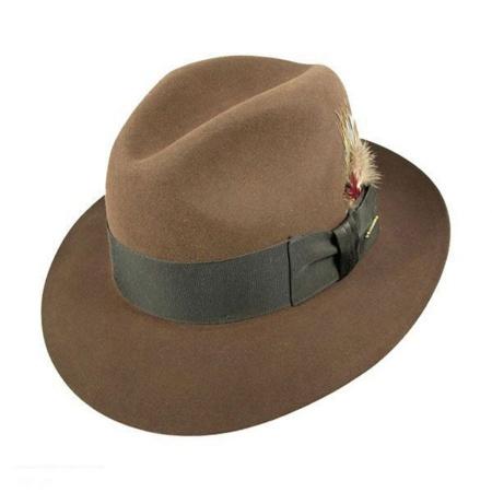 3bbfc37556374 Stetson Temple Fur Felt Fedora Hat All Fedoras
