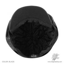 Noclin Leather Newsboy Cap