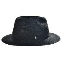 Ladon Raffia Straw Fedora Hat
