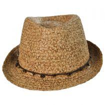 Stone and Leather Fedora Hat