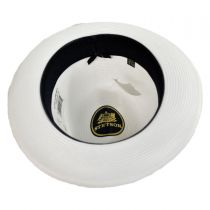 Latte Florentine Milan Straw Fedora Hat alternate view 13