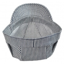 Striped Denim Engineer Cap
