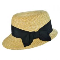 Darby Milan Straw Cloche Hat in