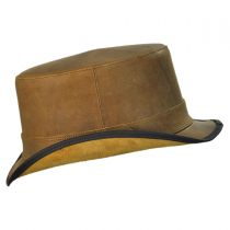 Stoker Leather Top Hat