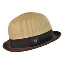 Packable Toyo Straw Bowler Hat