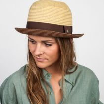 Packable Straw Bowler Fedora