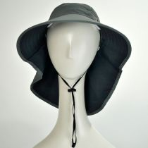 Torrey Hats' UPF 50+ Large Bill Hat with Neck Flap
