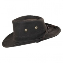 The McKenzie Waxed Cotton Outback Hat in