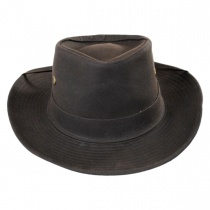 The McKenzie Waxed Cotton Outback Hat alternate view 6