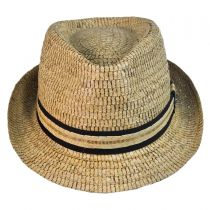 Buri Palm Braid Straw Fedora Hat