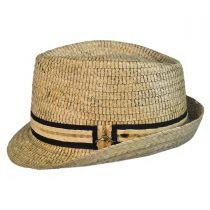 Buri Palm Braid Straw Fedora Hat