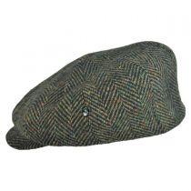 Herringbone Donegal Tweed Wool Newsboy Cap in