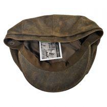 Distressed Leather Newsboy Cap
