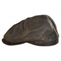 Distress Leather Newsboy Cap