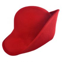Six-Way Big Brim Wool Felt Cloche Hat in