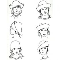 Six-Way Big Brim Wool Felt Cloche Hat alternate view 25