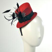 Wool Felt Mini Top Hat Fascinator Headband in