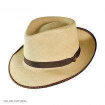 Brewster Panama Straw Fedora Hat