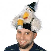 Oktoberfest Clucky Chicken Hat Off White/Green