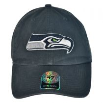 Seattle Seahawks NFL Clean Up Strapback Baseball Cap Dad Hat alternate view 2