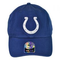Indianapolis Colts NFL Clean Up Strapback Baseball Cap Dad Hat alternate view 2