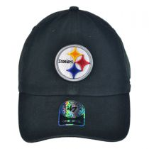 Pittsburgh Steelers NFL Clean Up Strapback Baseball Cap Dad Hat alternate view 2