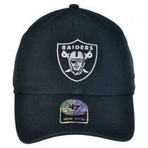 Oakland Raiders NFL Clean Up Strapback Baseball Cap Dad Hat alternate view 2