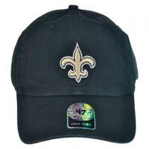 New Orleans Saints NFL Clean Up Strapback Baseball Cap Dad Hat alternate view 2
