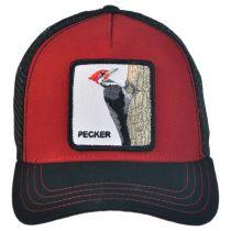 Woody Wood Mesh Trucker Snapback Baseball Cap in