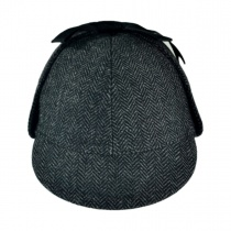 Sherlock Holmes Herringbone Wool Blend Hat alternate view 12