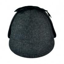 Sherlock Holmes Herringbone Hat Grey