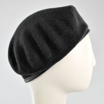 Wool Military Beret with Lambskin Band alternate view 270