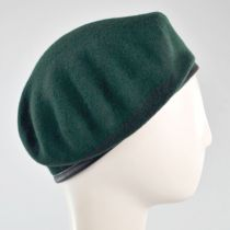 Wool Military Beret with Lambskin Band alternate view 155