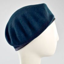 Wool Military Beret with Lambskin Band alternate view 130
