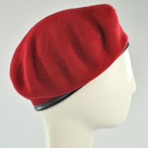 Wool Military Beret with Lambskin Band alternate view 44
