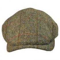 Herringbone Check Harris Tweed Wool Ivy Cap