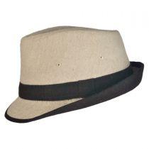 Kid's Tweed Fabric Fedora Hat in
