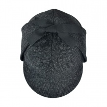 Sherlock Holmes Herringbone Wool Blend Hat alternate view 4
